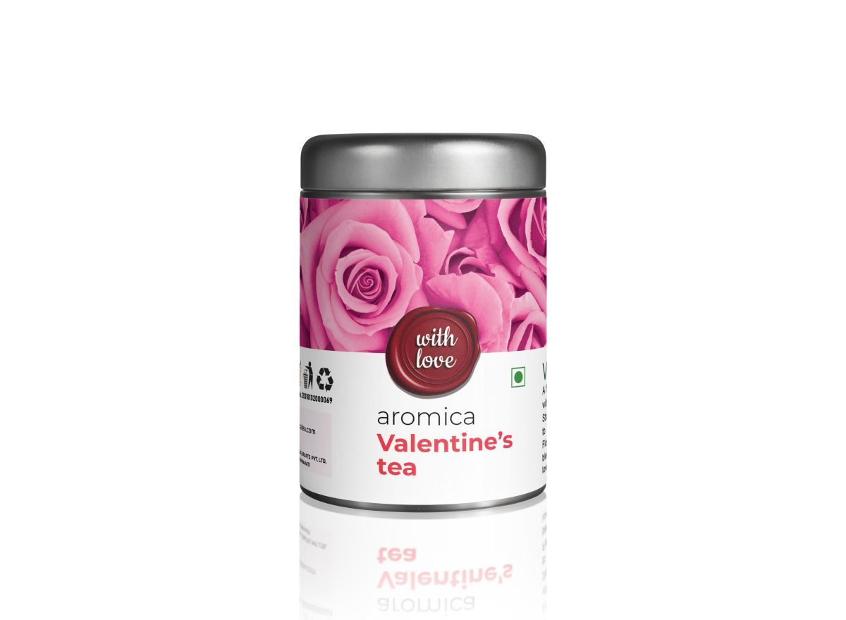 Blended with dark chocolate,rose and strawberry,Aromica Valentine tea will rekindle your romance.